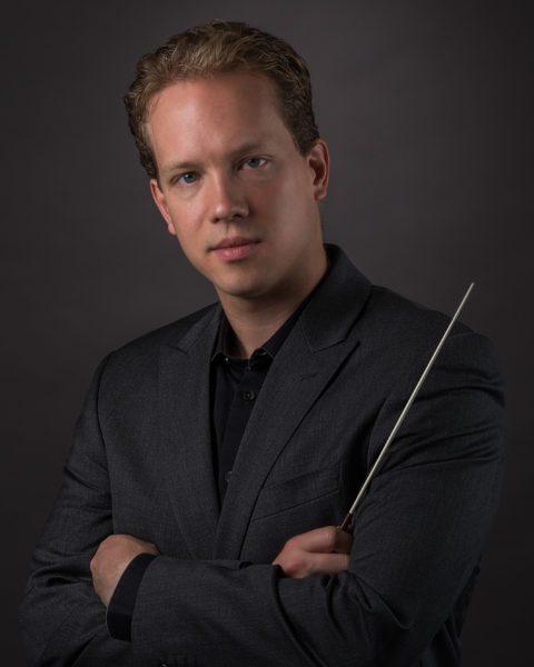 Joshua Horsch, posing with baton.